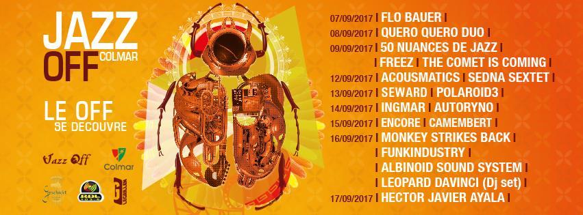 Affiche du festival Jazz Off Colmar